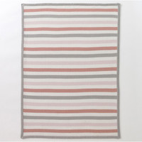 DwellStudio Multi-Stripe Blossom Knit Blanket