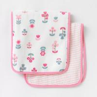 DwellStudio Rosette Blossom Burp Cloths 2pk