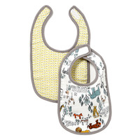 DwellStudio Safari Muslin Bib 2pk