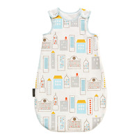 DwellStudio Skyline Light Blue Night Sack Flannel