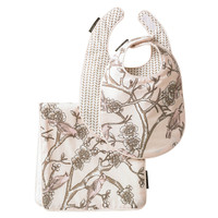 DwellStudio Vintage Blossom  Bib & Burp Set