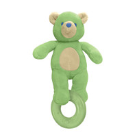 i play. Organic Terry Circus Animal Teether - Bear- Sage