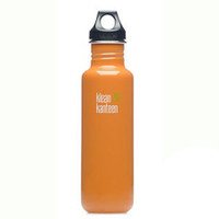 Klean Kanteen 27oz Classic Bottle w/ Loop Cap - Orange Sunset