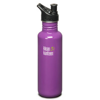 Klean Kanteen 27oz Classic Bottle w/ Sport Cap - Prevention Purple
