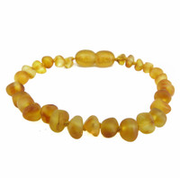 Momma Goose Baby Amber Teething Bracelets - Baroque Unpolished Honey