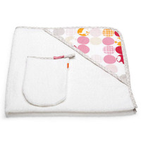 STOKKE Hooded Bath Towel - Silhouette Pink