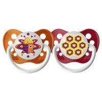 Ulubulu Lots of Love Pacifier - Bee & Honeycomb 0-6M