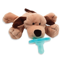 WubbaNub Plush Pacifier - Brown Puppy