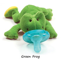 WubbaNub Plush Pacifier - Green Frog