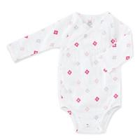 aden + anais Long Sleeve Kimono Body Suit - Pink Aztec-1