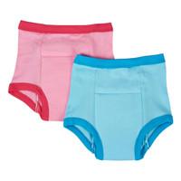 i play. Organic Training Pants - 2 Pack - Pink/Aqua-1