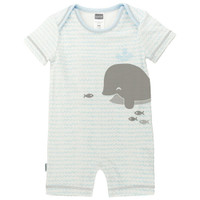 Kushies Boy's Romper - Light Blue-1