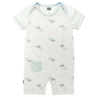 Kushies Boy's Romper - White-1