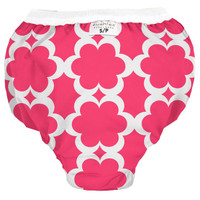Kushies Waterproof Training Pant - Fuchsia Modern Flowers-1
