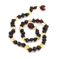 Momma Goose Baby Amber Teething Necklaces - Baroque Cherry & Lemon (medium)-1