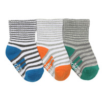 Robeez Cool Stripe Baby Socks 3 Pack-1