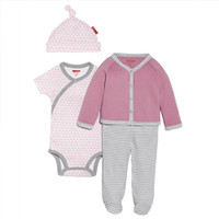 Skip Hop 4 Piece Welcome Home Baby Set - Petite Triangles Pink-1