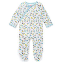 Skip Hop Boho Feather Side Snap Footie - Blue-1