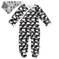 Skip Hop Footie & Bandana Set - Star Struck - Grey-1