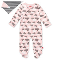 Skip Hop Footie & Bandana Set - Star Struck - Pink-1