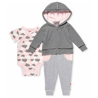 Skip Hop Star Struck 3 Piece Play Wear Set - Pink-1