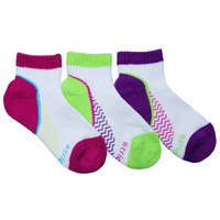STRIDE RITE Aubree Made to Play Pop Color Quarter Socks - 3 Pack-1