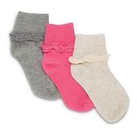 STRIDE RITE Donna Turn Cuff Socks - 3 Pack-1
