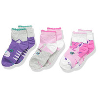 STRIDE RITE Mallory Animal Faces Comfort Seam Quarter - 3 Pack-1