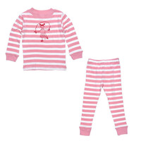 Under The Nile Long Johns Set - Dusty Rose Stripe-1