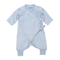 Under The Nile Muslin Side Tie Kimono - Ice Blue-1