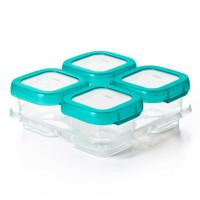 OXO TOT Plastic Baby Blocks Freezer Storage Containers (4 OZ) -