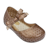 Mini Melissa Furadinha X - Light Brown Glitter ships for free!