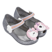 Mini Melissa Ultragirl Unicorn - Silver With Free Shipping!