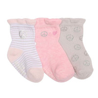 Robeez Peace and Love Baby Socks - 3 Pack