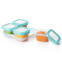 OXO Tot Plastic Baby Blocks Freezer Storage Containers (4 OZ) - Aqua-2