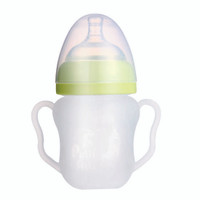 Putti Atti Silicone Baby Bottle with Handle - 5.5oz - Green-2
