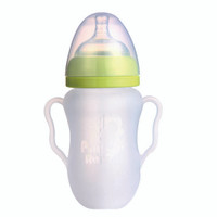 Putti Atti Silicone Baby Bottle with Handle - 8.8oz - Green-2