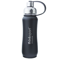 Thinksport Insulated Sports Bottle - Powder Coated Black - 17 oz