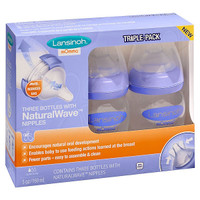 Lansinoh mOmma Bottle with NaturalWave Nipple 5 oz - 3 pk