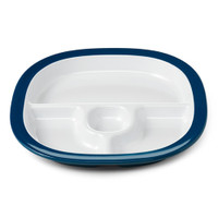 OXO Melamine Divided Plate - Navy-1