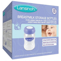 Lansinoh Breastmilk Storage Bottles - 4 Pack