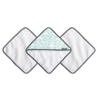 JJ Cole Washcloth Set - Cloud 9 (Cloudy Smile)