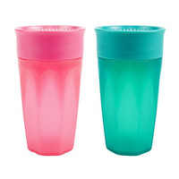 r Brown's Cheers 360 Cup - 10 oz - 2 Pack Pink/Turquoise