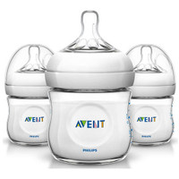 Philips Avent Natural Baby Bottle - 4oz (3 Pack) Clear_thumb1