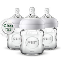 Philips Avent Natural Glass Bottle - 4oz (3 Pack)_thumb1