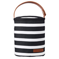 JJ Cole Bottle Cooler - Black & White Stripe_thumb1