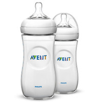 Philips Avent Natural Baby Bottle- 11oz (2 Pack) Clear_thumb1_thumb2