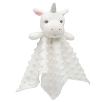 Elegant Baby Minky Dot Security Blanket - White Unicorn