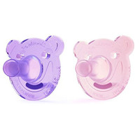 Philips Avent Soothie Bear Pacifier - 0-3 months (2 Pack) Pink/Purple_thumb1