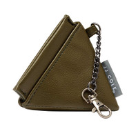 JJ Cole Leather Pacifier Pyramid Pod - Olive_thumb1